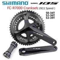 SHIMANO 105 FC R7000 Crankset 2x11 Speed HOLLOWTECH II CRANKSET 50 34T 52 36T 53 39T 165MM 170MM 172.5MM 175MM 5800