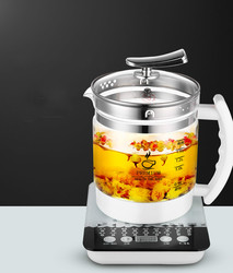 Electric kettle Fully automatic  thickened glass multi-function electric heating flower teapot Overheat Protection