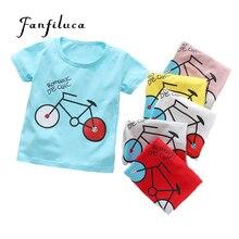 Bicycle-Pattern T-Shirt Baby-Boy Cotton Summer Fanfiluca Short