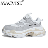 Macvise 2018 Breathable Human Race Shoes Casual Design Sneaker Shoes for Unisex High Quality Chunky Triple Black Shoes