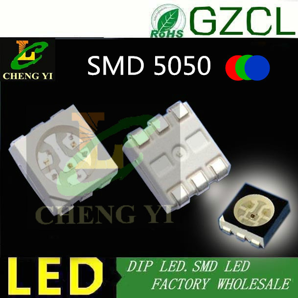 Lights & Lighting Rational 1000pcs Free Shipping Rgb 5050 Chip Led 5.0*5.0mm Tricolor Smd Led 1000pcs Aromatic Flavor