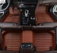 Leather car floor mats FIT FOR Mitsubishi Lancer Sedan 2008 2009 2010 2011 2012 2013 2014 2015 2016 car styling Custom car mat