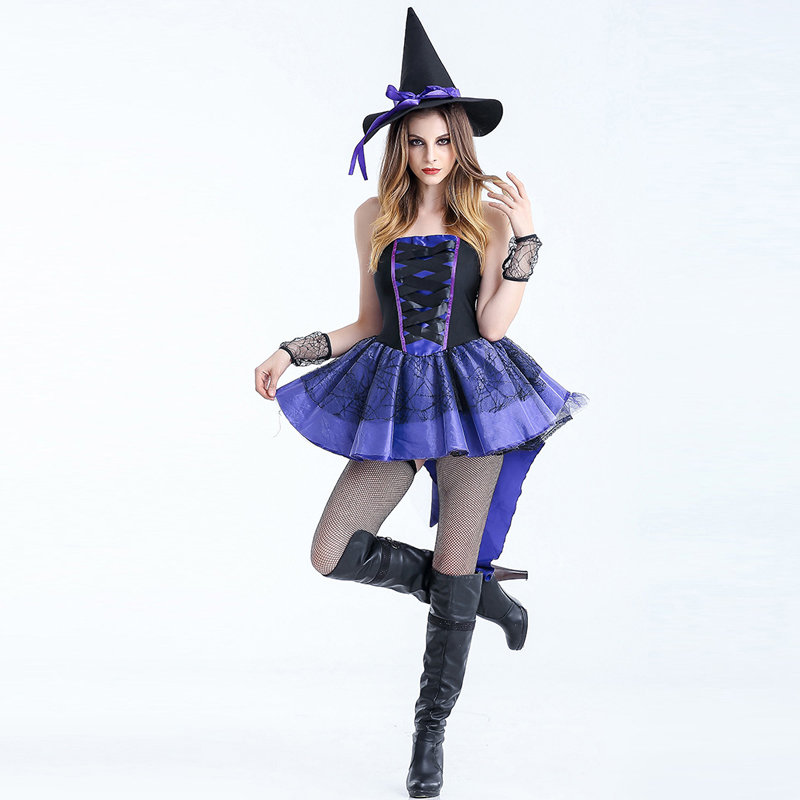 Adult Sexy Gothic Queen Witch Costumes Outfit Dress Fancy Cosplay Carnival Costume Sexy Dresses Halloween Costumes For Women (3)