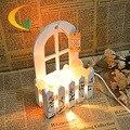 Аутентичные деревянные модели кристалла соли лампы затемнения ночь глаз спальня ночники творческий 110 В-220 В E17 стол лампы