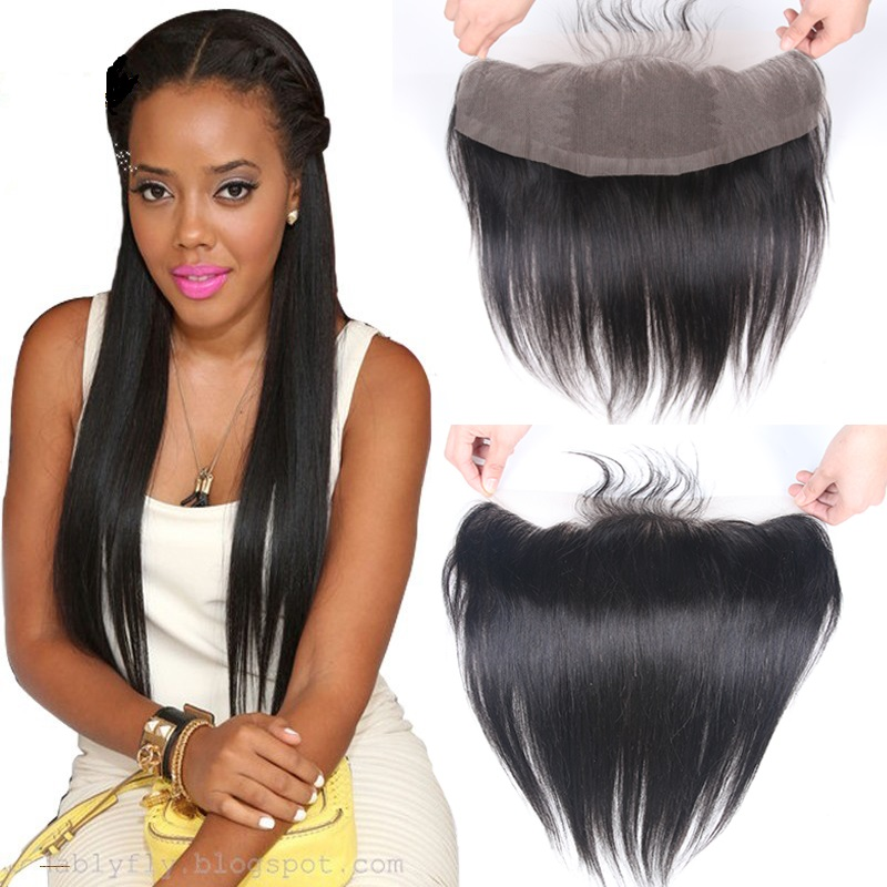 Brazilian Straight Human Hair Lace Frontal Closure 13x4 Ear To Ear Pre Plucked Remy Hair Lace Frontal Closure With Baby Hair