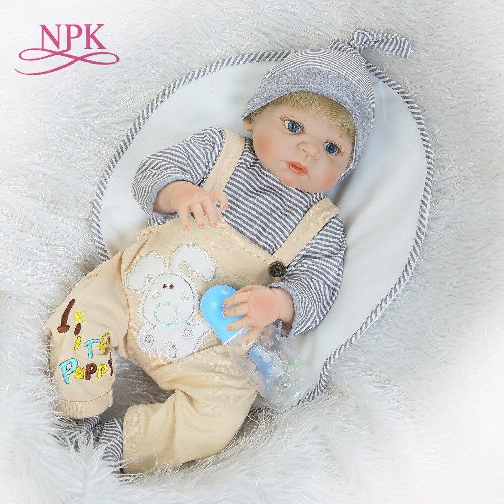 NPK soft silicone vinyl bebes reborn lifelike baby full body doll VICTORIA boneca reborn baby Christmas