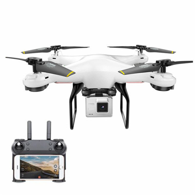 DM DM106 WiFi FPV With 2MP/0.3MP Camera Altitude Hold RC Drone Quadcopter RTF Mode 2 with Transmitter Phone Control With LED Toy