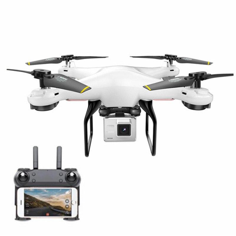 DM DM106 WiFi FPV con 2MP/0.3MP Cámara altitud Hold RC Drone Quadcopter RTF Modo 2 con transmisor teléfono control con LED juguete