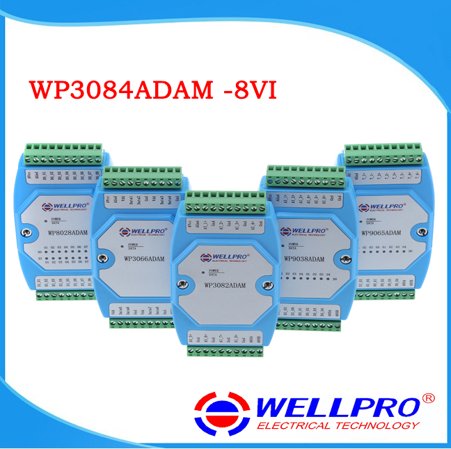 WP3084ADAM 8VI 0 10V analog input module RS485 MODBUS RTU communication