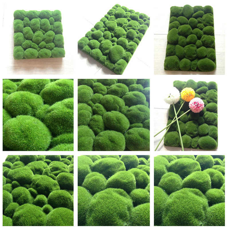 2 pz/lotto di Pietra Muschio In Miniatura Dollouse Garden Craft Fata Bonsai Pianta Decor Marimo Pietra Muschio Artificiale Schiuma di Pietra