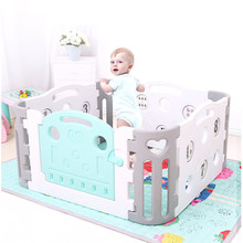 Environmental Safety Baby Fence Children's Games Indoor Playgrounds Baby Kids Playpen Security Gate for Children Child Barrier customized design safety environmental epp soft play building block children indoor playground for sale ylw epp0301