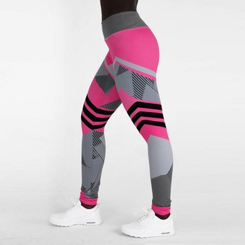 Loozykit Women Yoga Pants Sport Compression Tights Slim Sports Clothing Yoga Sportswear Hip Control Fitness Exercise Leggings 1