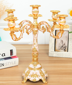 European home alloy dazzling candlestick retro home decoration wedding candlelight Dinner Candle Table christmas candle holder