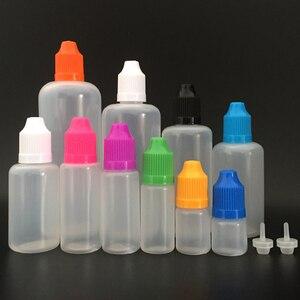2000pcs LDPE Plastic dropper bottle 5ml 10ml 15ml 30 ml 50ml 60ml 100ml 120ml Squeeze E liquid oil Bottles With Childproof Caps