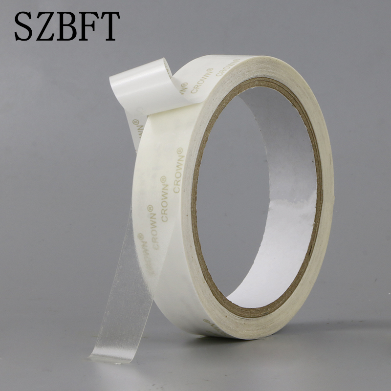 SZBFT 1.2CM-6CMX10M Strong ultra thin transparent PET high temperature double-sided adhesive tape  paperSZBFT 1.2CM-6CMX10M Strong ultra thin transparent PET high temperature double-sided adhesive tape  paper