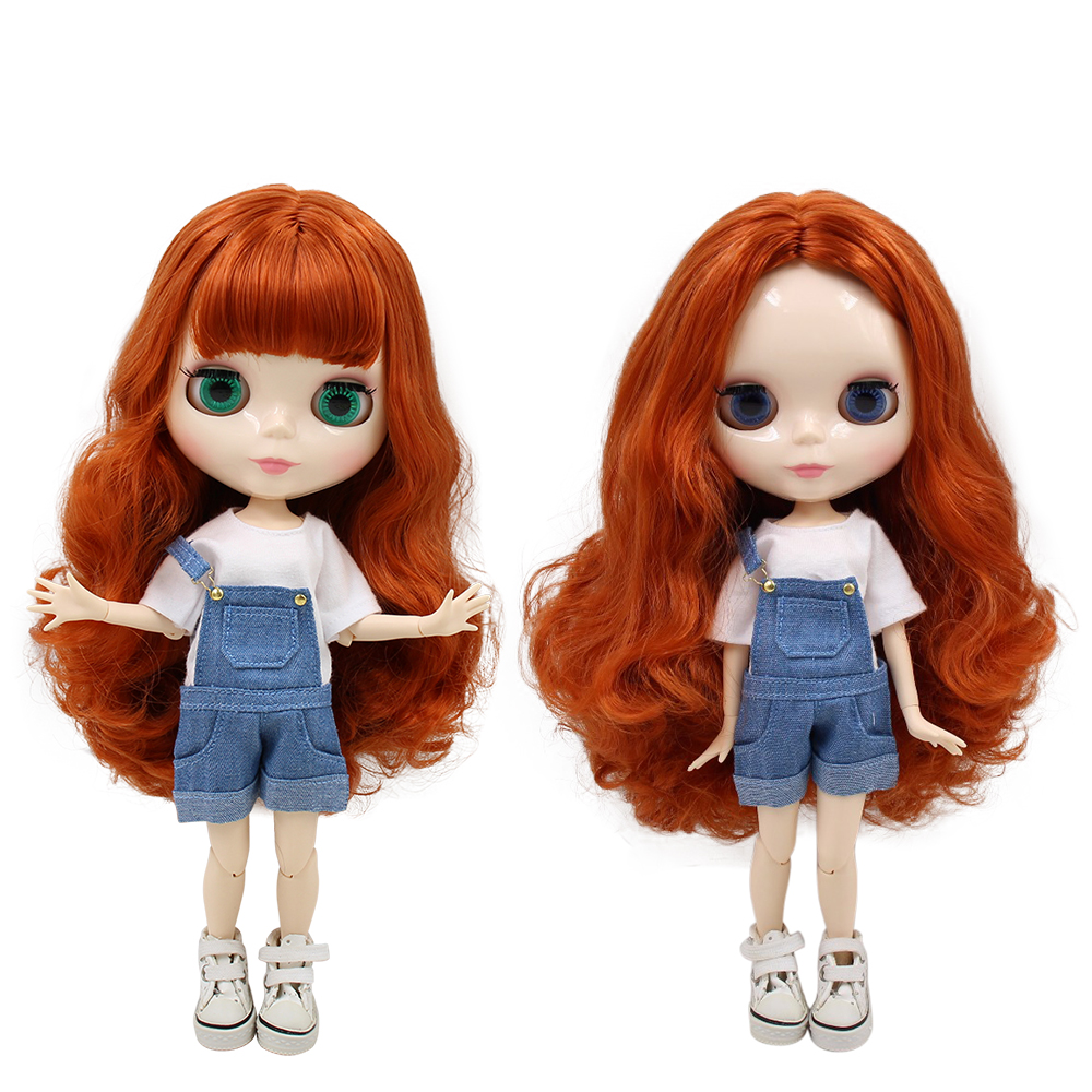 Lovely Factory Blyth Doll Bjd Red Brown Hair Joint Body White Skin 230bl1207 1/6 30cm Spare No Cost At Any Cost Toys & Hobbies