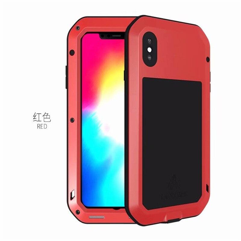 1 шт. чехол для iPhone Xs максимально сверхпрочный защиты Броня металлический Алюминий противоударный пылезащитный чехол для iPhone X XR Xs Max - Цвет: Red