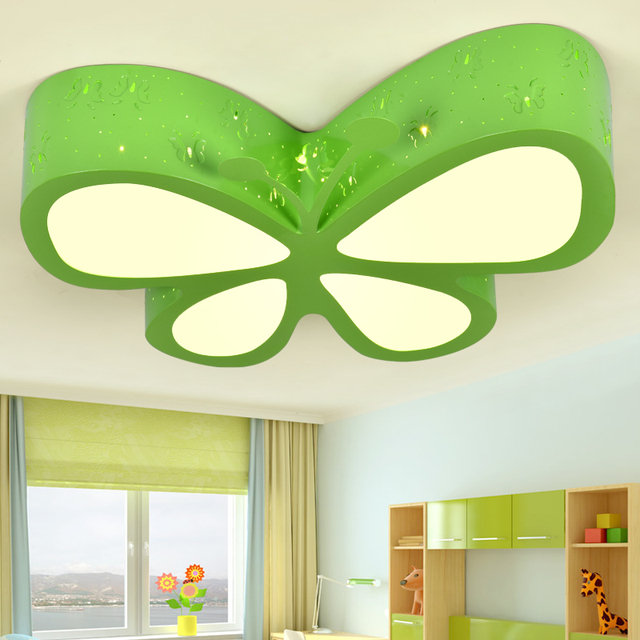 Children\'s room ceiling lights bedroom lamp LED creative personality  butterfly lighting fashionable girls Princess rooms lamps -in Ceiling  Lights from ...