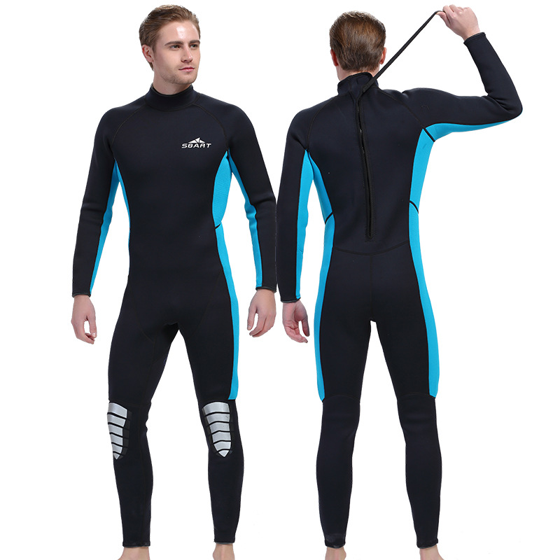SBART 3MM Neoprene Surfing Wetsuit Winter Long Sleeved One-piece Thickened Jellyfish Swimming Snorkeling Suit for Men and Women men s winter warm swimwear rashguard male camouflage one piece swimsuit 3mm neoprene wetsuit man snorkeling diving suit