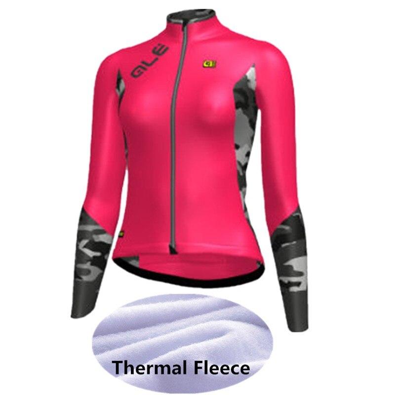 Prix pour 2017 Nouvelle arrivée Femme Hiver cyclisme clothing Thermique en laine polaire vélo jersey long vtt ropa ciclismo hombre vélo cyclisme vêtements