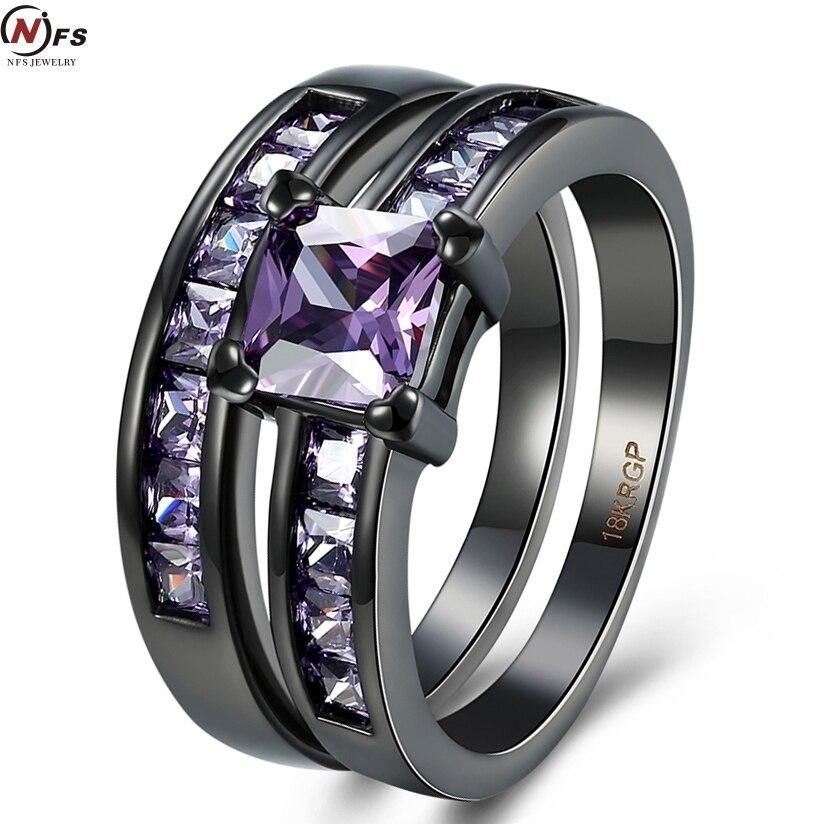 hot pink wedding ring sets - Black And Pink Wedding Ring Sets
