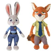 Mini 20cm Cartoon Plush Zoopotia Rabbit Judy Hopps and Fox Nick Wilde Stuffed animals Stuffed dolls