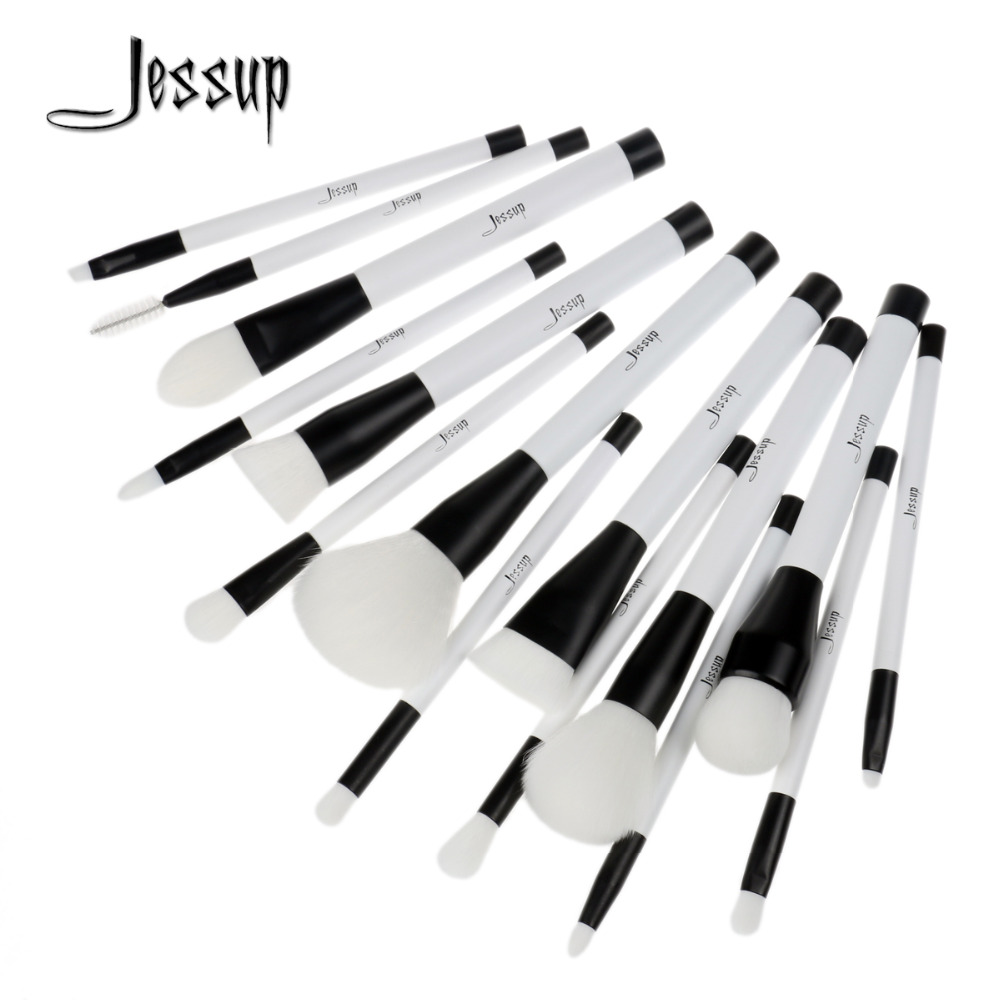 2017 New Jessup 15Pcs Professional Make up Brushes Set  Blusher Powder Eyeshadow Blending Eyebrow Cosmetics Brushes T115