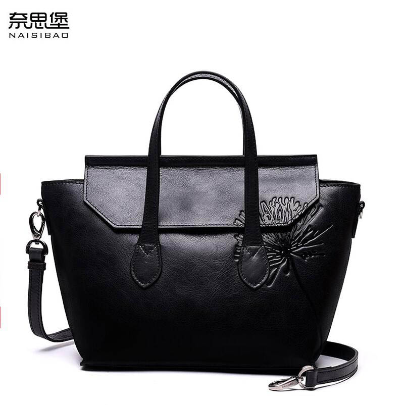 NAISIBAO 2019 New  women genuine leather bag embossing Wings bag fashion women handbags shoulder bag perfectly leather art bagNAISIBAO 2019 New  women genuine leather bag embossing Wings bag fashion women handbags shoulder bag perfectly leather art bag