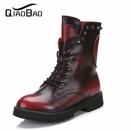 ФОТО 2017 Martin Boot New European Style Skull Boots Genuine Leather New Brand Design Cowhide Boots Fashion Woman Winter Shoes