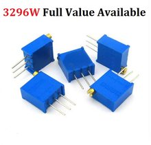 20pc 3296W-103 1K 2K 5K 10K 20K 50K 100K 200K 500K 1M 2 10R 50R 100R 200R 500R 3296W Adjustable precision potentiometer resistor(China)