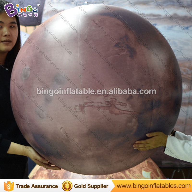 2017 Hot sale inflatable planets for decoration, inflatable Mars hanging balloon, Sun, Mars, Saturn solar system nine planets the planets
