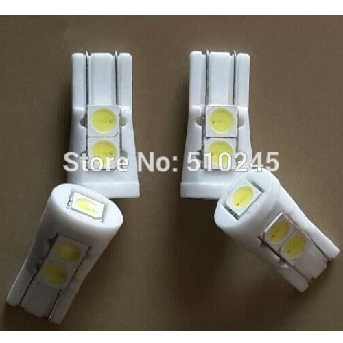 100X wholesale T10 W5W 194 168 High Power 5 LED 5050 SMD Ceramic Bulb Car Auto Side Light lamp free shipping