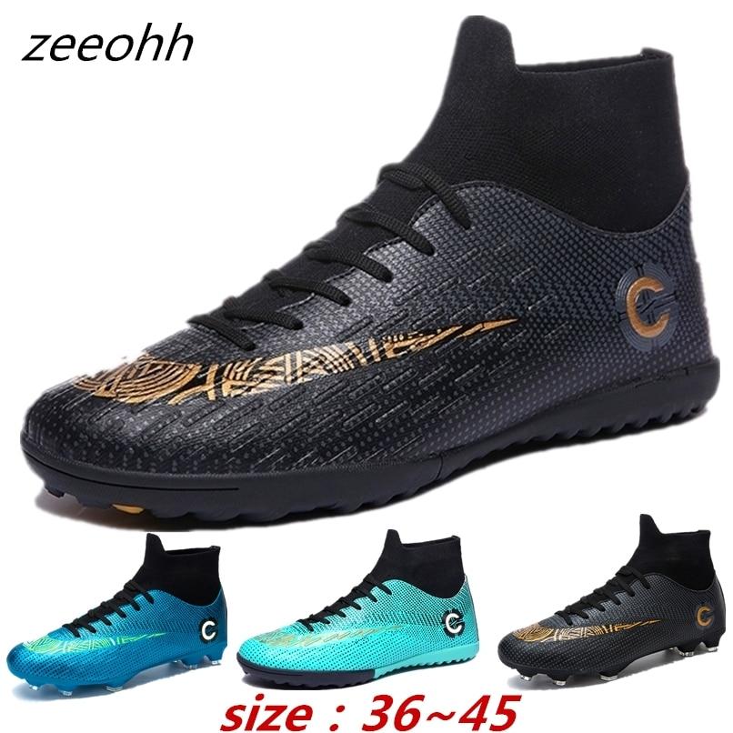 45c0ae7cb Original Men Football Boots Cleats Training Long Spikes Kids Phantom  Sneaker Sport Neymar Chaussure Ace Superfly Soccer Shoes