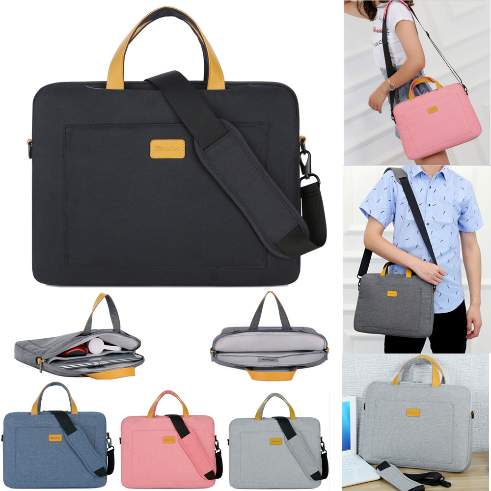 Nylon Laptop Shoulder bag for Dell Asus Lenovo HP Acer 13 14 15.6 inch Messenger Bag for Macbook Air Pro Notebook Sleeve Case nylon laptop bag case sleeve for xiaomi 13 3 macbook air pro notebook handbag for dell hp asus acer lenovo 11 12 13 15 6