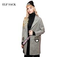 Elf sack wアンティーク冬女性ファッショントップス装飾設計ターン