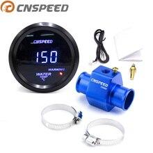 "Cnspeed 2 ""52mm 디지털 led 물 온도 게이지 미터 1/8npt 물 온도 게이지 미터 센서와 자동차 40 150 섭씨"