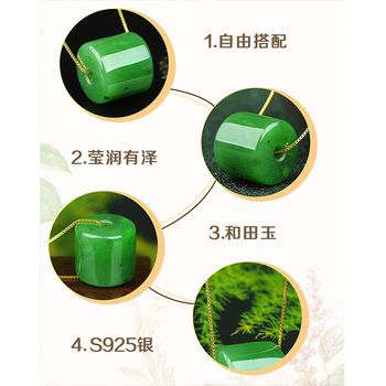 Natural Green Hetian Jades big bead   Pendant Carved  Pendants Women or  Men's Amulet Nephrite Jades Jewelry