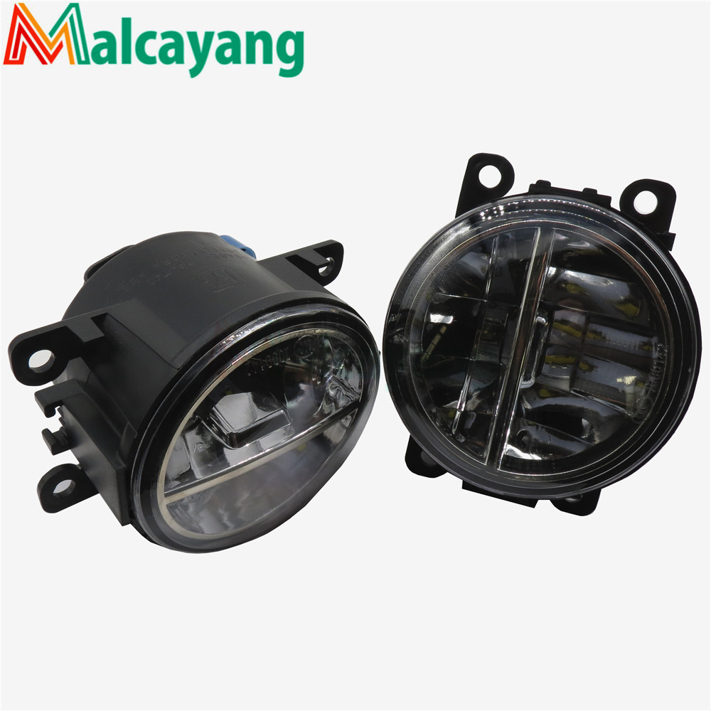 1set Car-styling LED fog lamps10W high brightness lights For DACIA Duster Sandero LOGAN 2004-2015 Car styling for lexus rx gyl1 ggl15 agl10 450h awd 350 awd 2008 2013 car styling led fog lights high brightness fog lamps 1set