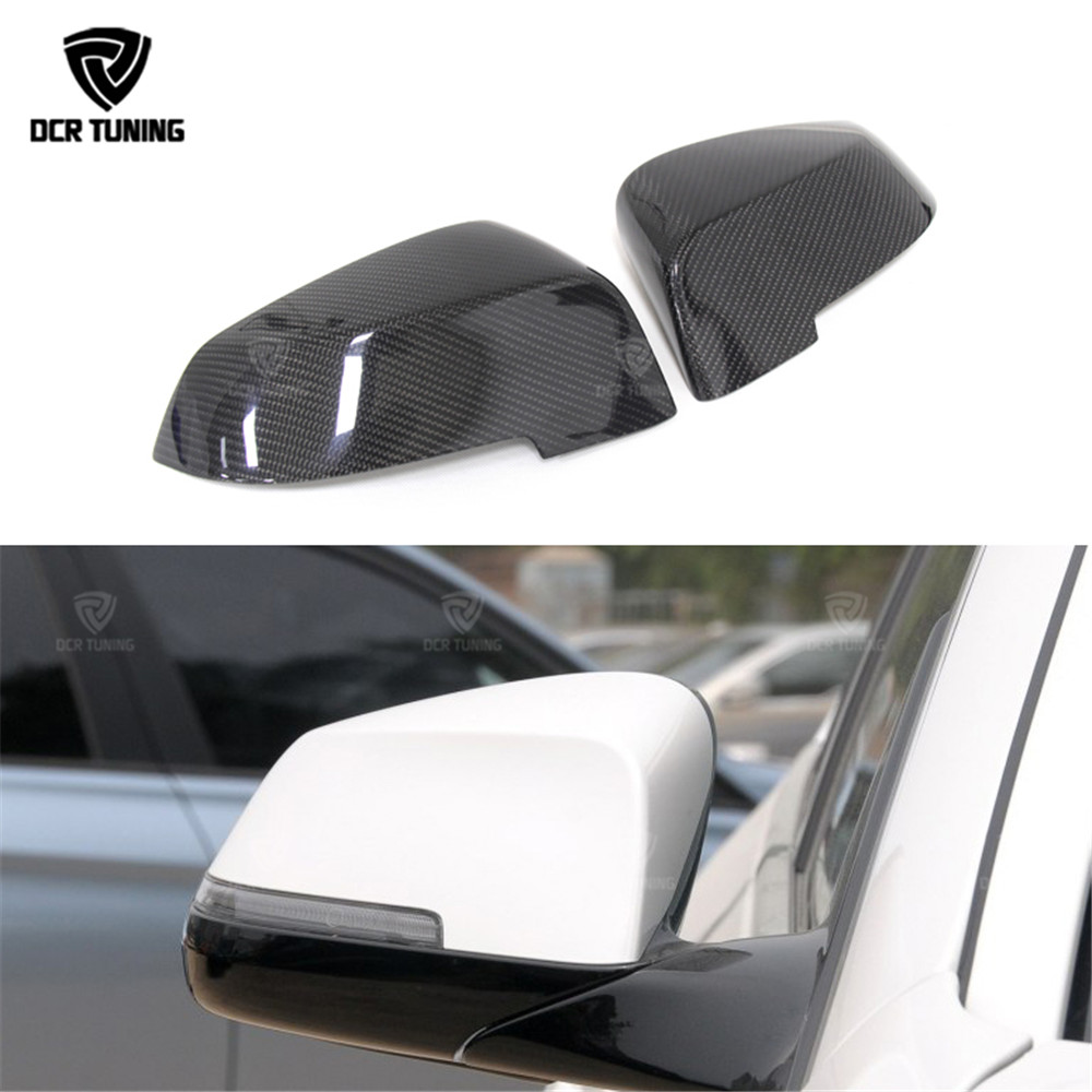 Carbon Fiber Rear View Mirror Cover For <font><b>BMW</b></font> 5 Series F10 <font><b>F11</b></font> 520i 528i 535i 518d 2014 <font><b>2015</b></font> 2016 6 7 Series F06 F12 F13 F01 F02 image