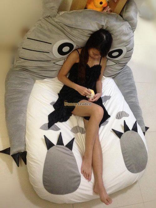 Fancytrader 190cm X 130cm Super Cute Huge Giant Totoro Bed Tatami Carpet Sofa Free Shipping FT90191 (21)