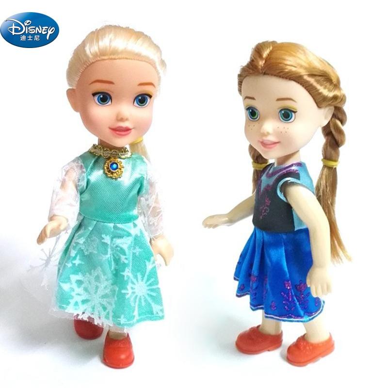 2 Pcs/lot Disney Frozen Elsa Anna Dolls Princess Action Toy Figures For Girls Birthday Gift Toys & Hobbies