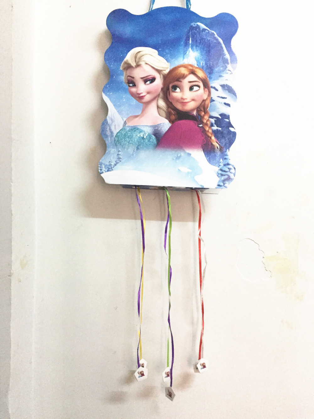 Anna/elsa Princess Frozen Birthday Party Decor Have Fun Game Supplies Snow Queen Freezing Paperboard Folding Pinata 1pcs