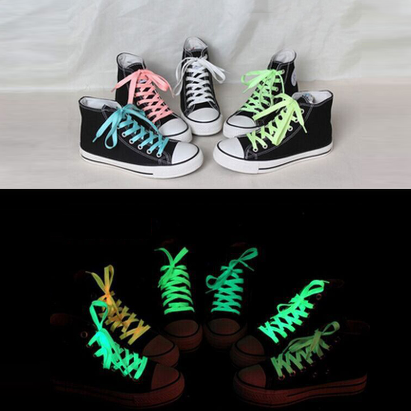 1pair 120cm Fashion Sport Luminous Shoelace Glow In The Dark Improve Manipulative Ability