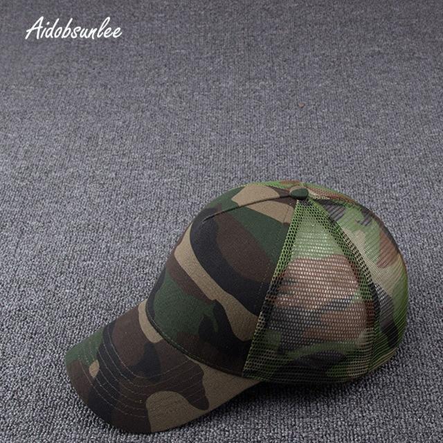 2017 New Arrival MEN'S HATS Men Camo Baseball Caps Mesh for Spring Summer Outdoor Camouflage Jungle Net Ball Base Army Cap Hot 3