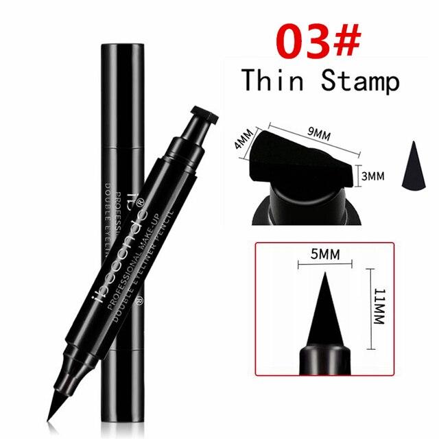 4 Style Eyeliner Stamp Pencil Black Liquid Makeup Waterproof Long-lasting Eye Liner Wing Stamps Eyes Liners Marker Pen Eyeliners 3