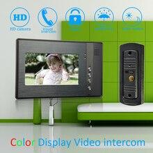 """(1 Set) 7"""" Color Monitor Home Garden Improvement Video Door Phone Home Security Digital Doorbell Door Access Control Intercom"""