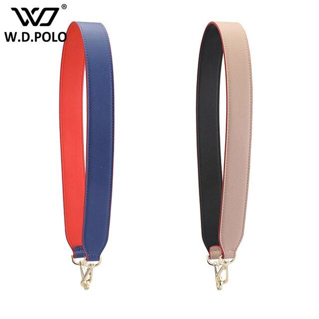 e3f074cc47 WDPOLO new candy color handbags belt women bag strap women accessory bags  part Split leather shoulder bag belts chic part C268