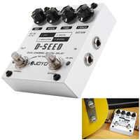 Pedal efecto guitarra eléctrica JOYO d-seed Doble Canal Digital retraso guitarra efecto Pedal con cuatro modos