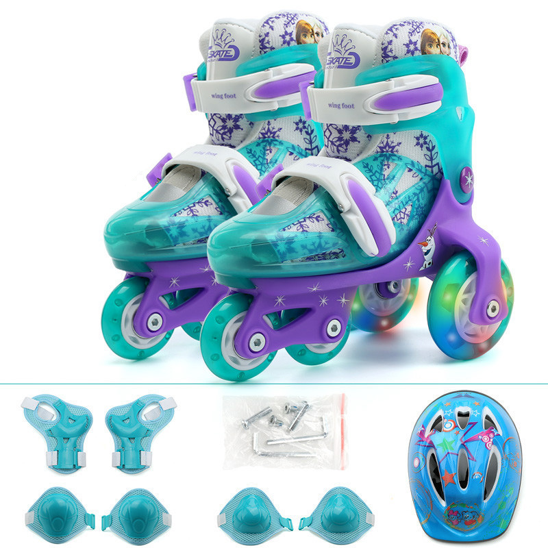 Kids Children Lovely Stable Balance Slalom Parallel Flashing Ice Skate Roller UNBreak