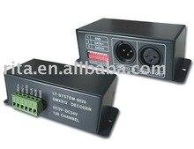 Lt-6803 DMX декодер ; DC5-24V вход ; LPD6803 car-удельная протокол выходной сигнал ; Max256 шаги